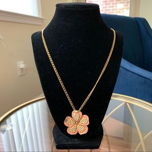 NWOT J.Crew Flower Pendant Necklace Pale Pink